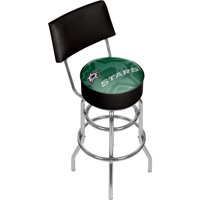 NHL Swivel Bar Stool with Back - Watermark - Dallas Stars