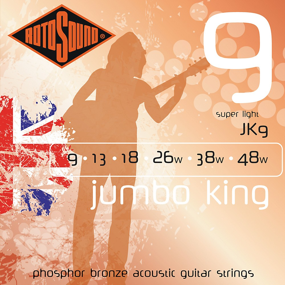Rotosound Jumbo King Super Light Phosphor Bronze Acoustic Guitar Strings by Rotosound