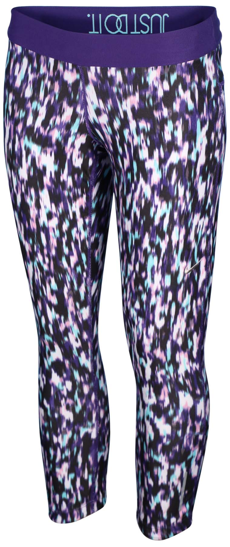 Nike Women's Dri-Fit Printed Relay Crop Running Tights-Violet Multi-XS by Nike