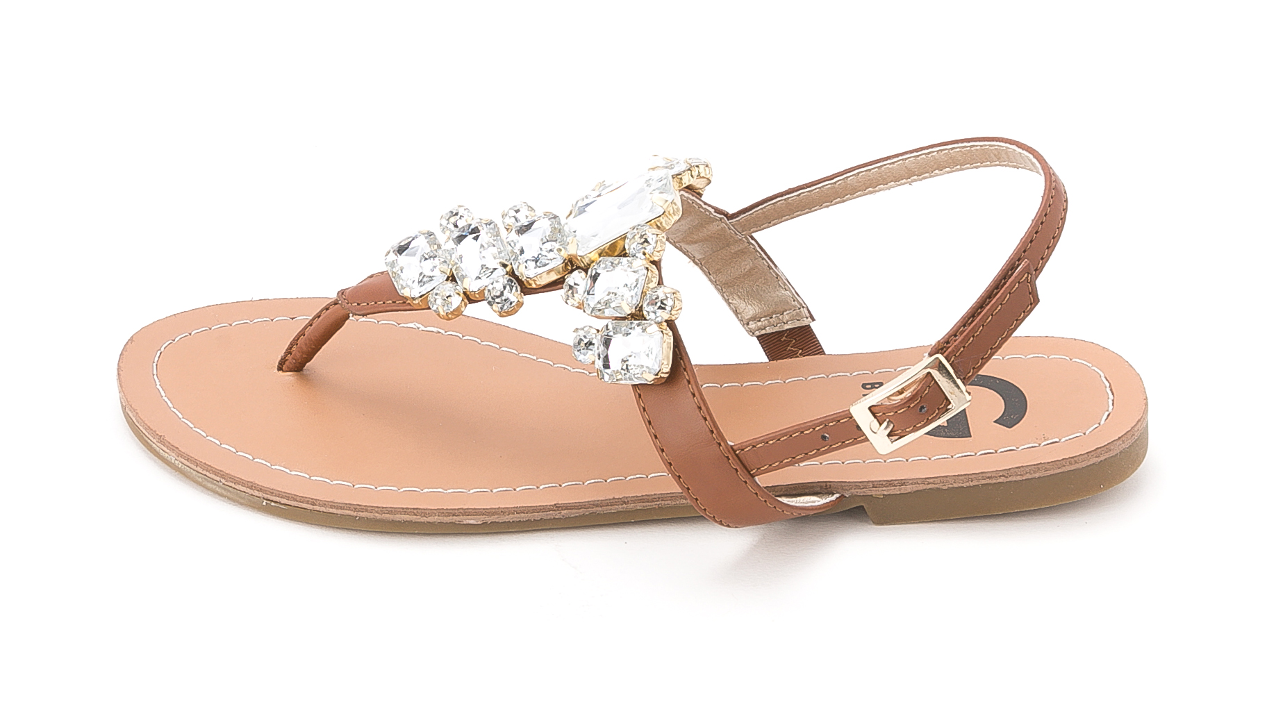 5544444d8 G BY GUESS - G By Guess Women s Kyli Flat Thong Crystal Sandals ...