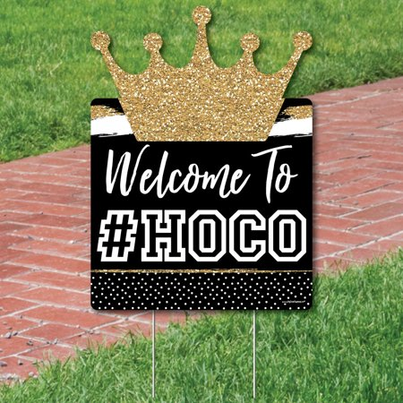Personalized HOCO Dance - Party Decorations - Custom Homecoming Welcome Yard Sign