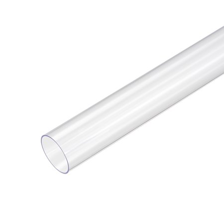 PVC Rigid Round Tubing,Clear,30mm ID x 32mm OD,0.5M/1.64Ft Length 2pcs - Length Round Rigid Pipe