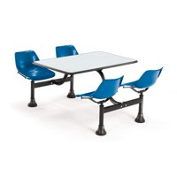 """OFM Model 1003 Cluster Seating Table with 30"""" Top and 4 Seats, Gray Nebula with Yellow"""