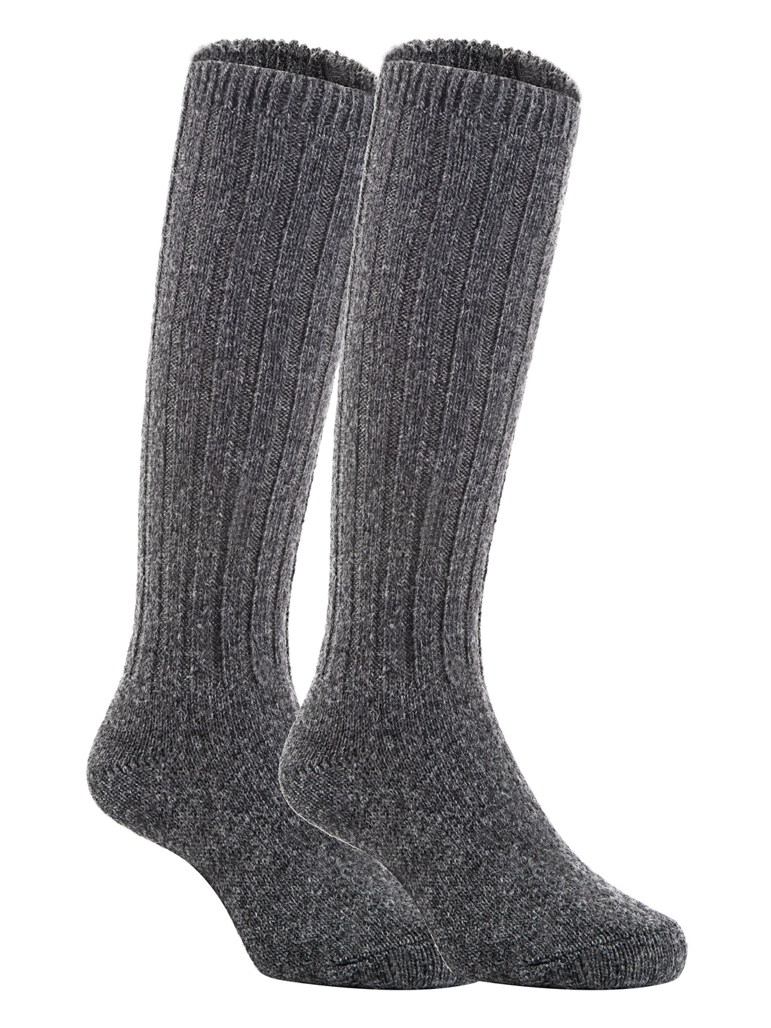Lian LifeStyle Unisex Baby Children 3 Pairs Knee High Wool Blend Boot Socks Size 2-4Y  (Dark Gray)