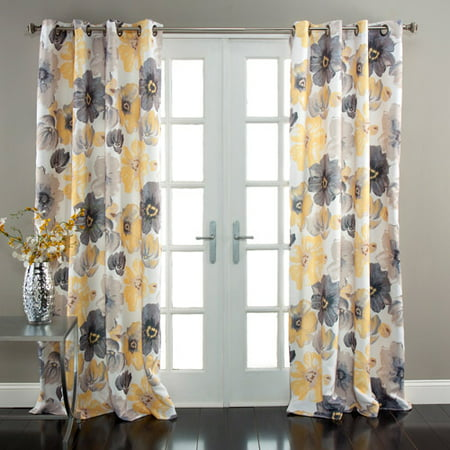 Lush Decor Leah Room Darkening Window Curtain Set