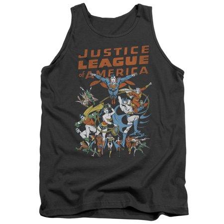 Justice League Dc Comics Big Group Adult Tank Top Shirt