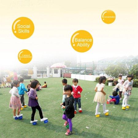 Children Kids Outdoor Fun Walk Stilt Jump Smile Face Balance Training Toy - image 9 of 9
