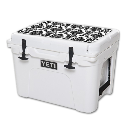 MightySkins Protective Vinyl Skin Decal for YETI Tundra 35 qt Cooler Lid wrap cover sticker skins Vintage Damask