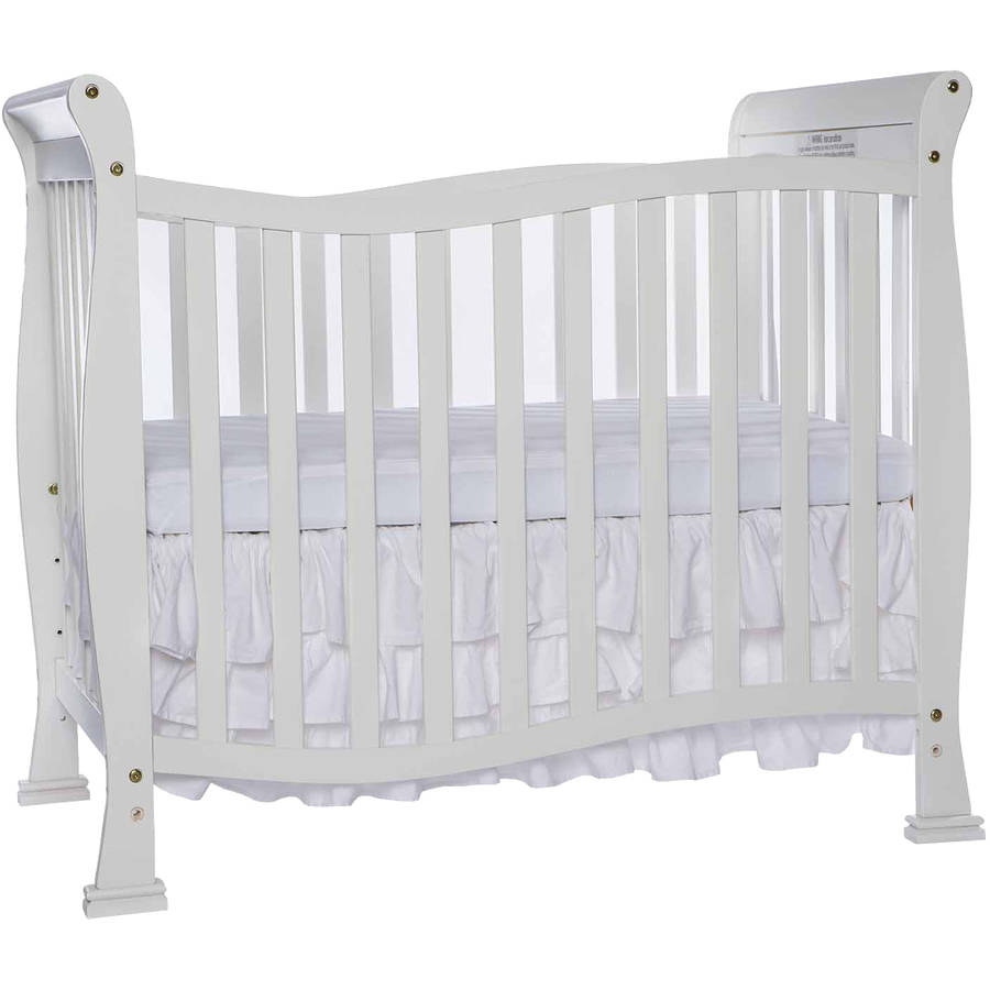 Dream On Me Piper 4-in-1 Convertible Mini Crib, White