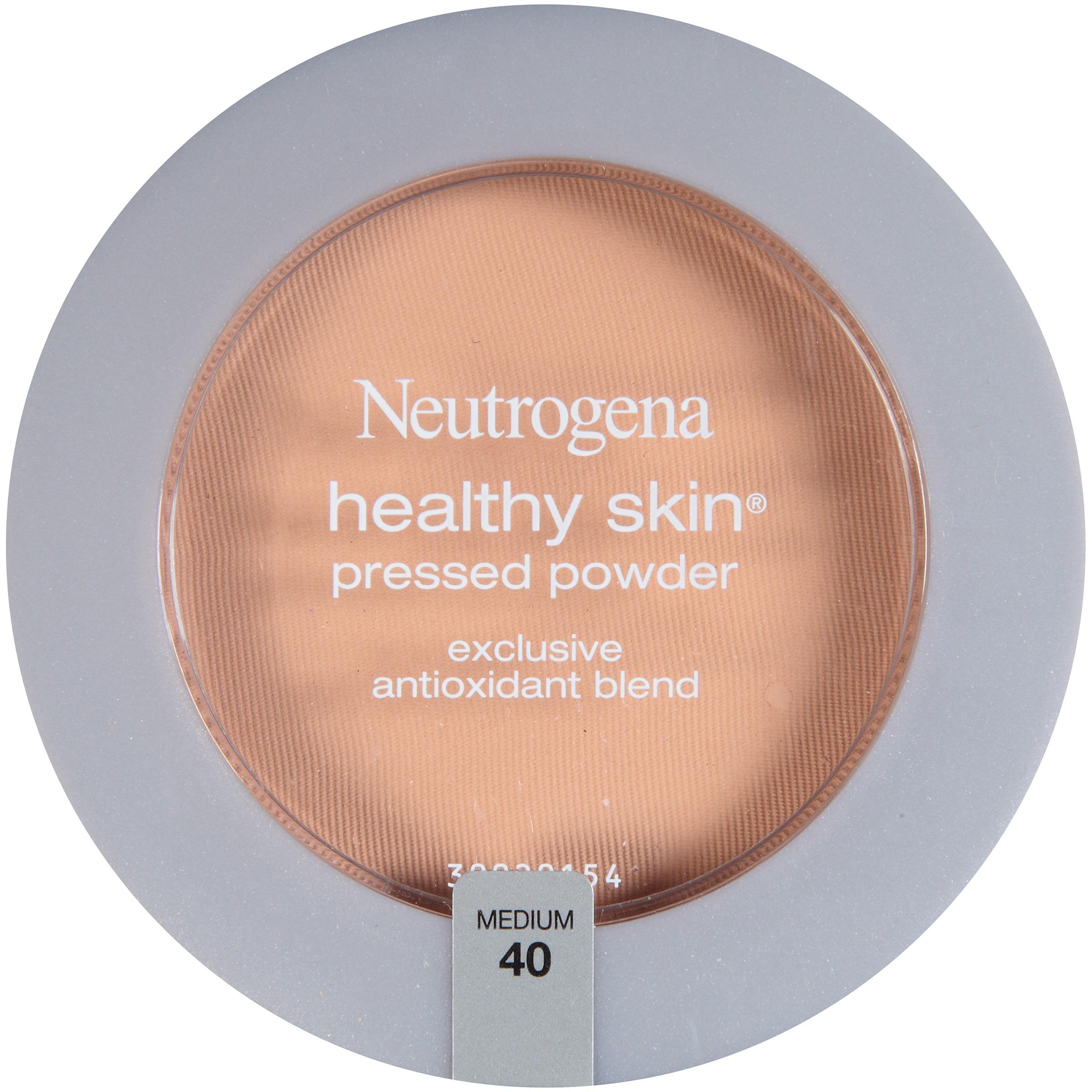 Maquillaje Para Ojos Neutrogena piel saludable presionado polvo SPF 20, media 40,.34 Oz + Neutrogena en Veo y Compro