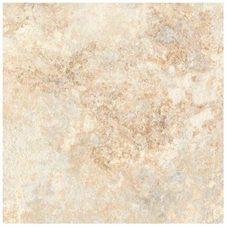 "DuraCeramic Rapolano 15.63"" x 15.63"" Vinyl Tile in Shoreline Mist"