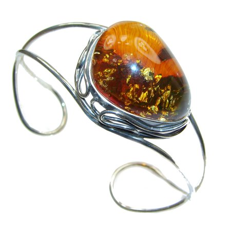 Gorgeous quality  Baltic  Amber .925 Sterling Silver Bracelet / Cuff by SilverRush