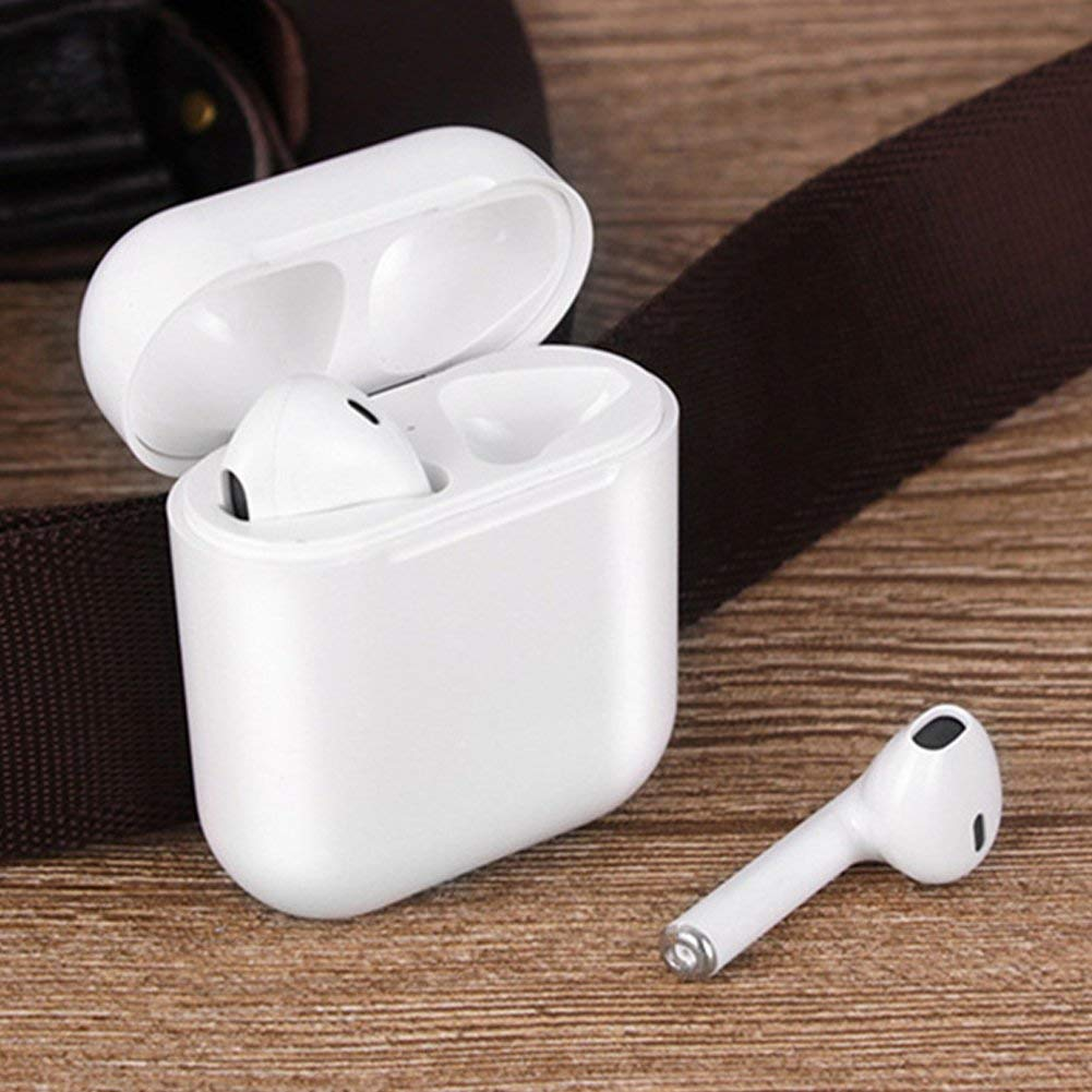 Bluetooth Wireless Headphones, In-Ear Earphones with Charging box-White
