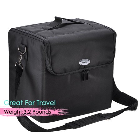 AW 210D Oxford Soft Fabric Makeup Train Case Artist Cosmetic Travel Storage Box - image 3 of 8