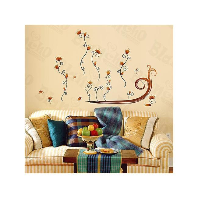 Flower Decor 4 - Medium Wall Decals Stickers Appliques Home Decor  Multicolor