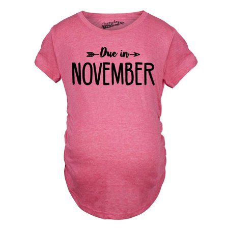 Maternity Due In November Funny T shirts Pregnant Shirts Announce Pregnancy Month Shirt](Halloween Announce Pregnancy)
