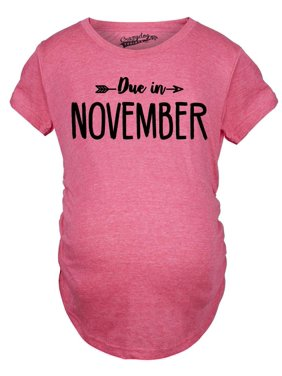 446f1bac5e3da Product Image Maternity Due In November Funny T shirts Pregnant Shirts  Announce Pregnancy Month Shirt