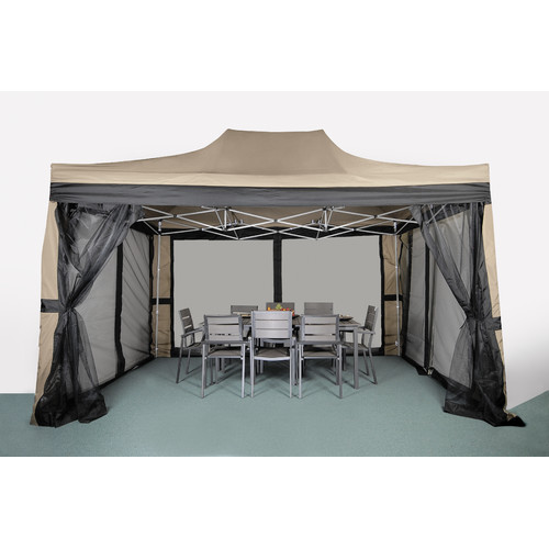 LB International Pop-Up 15 Ft. W x 10 Ft. D Metal Portable Gazebo by LB International