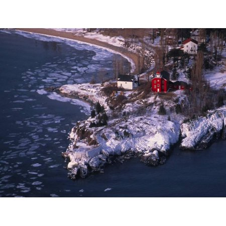 Marquette Harbor Lighthouse and Maritime Museum in winter, Marquette, Michigan, USA Print Wall Art](Halloween Usa Michigan)