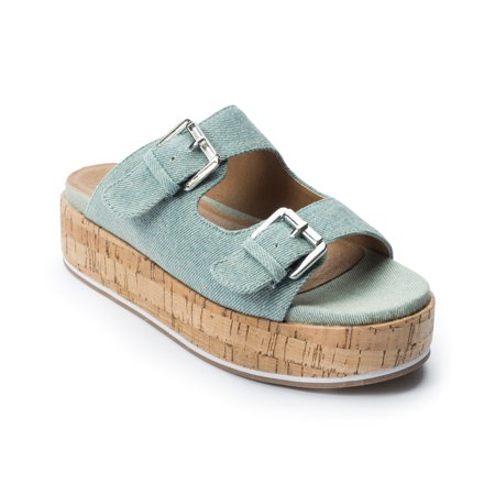 Jane and the Shoe, Jordan Sandal, Light Blue Denim (Jordan Sandalias)