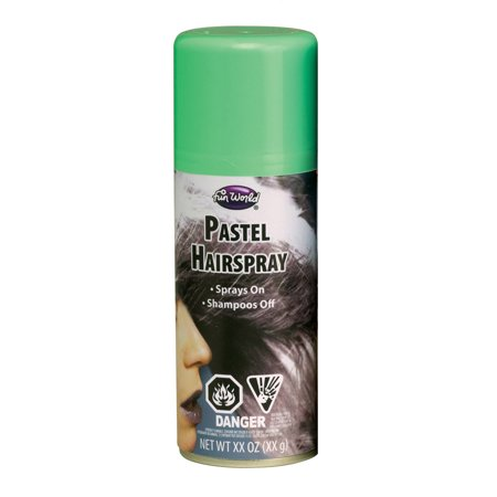 2 ounce can Pastel Hair spray - Pastel Green - Costume