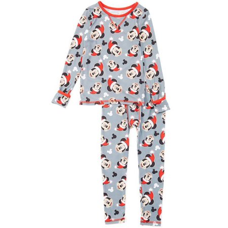 Cuddl Duds Toddler Boys Mickey Mouse Santa Thermal Underwear Base Layer Set - Boys Santa Suit