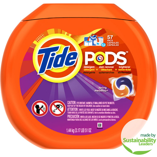 Tide PODS Laundry Detergent, Spring Meadow, 57 Loads, 57 count, Designed for Regular and HE Washers