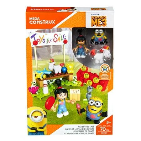 Mega Construx Despicable Me 3, Agnes' Toy Sale Buildable Set (Despicable Me Toys)