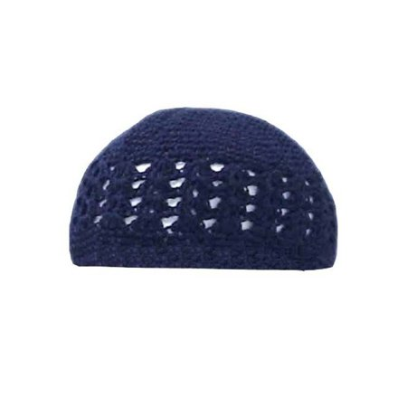 Crocheted Knit Beanie Domes- Navy - image 1 of 1