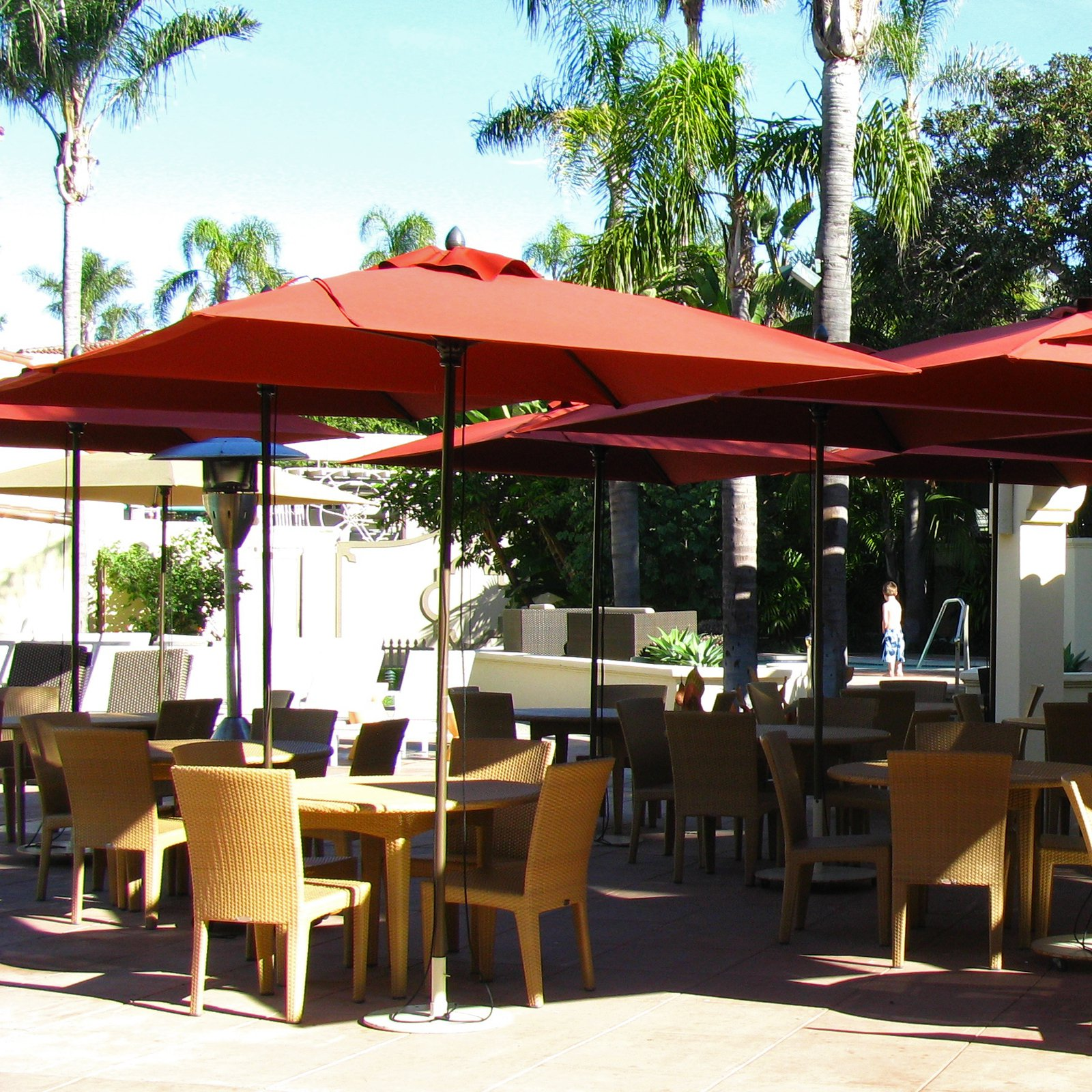 FiberBuilt Lucaya 6-ft. Contract-Grade Square Patio Umbrella