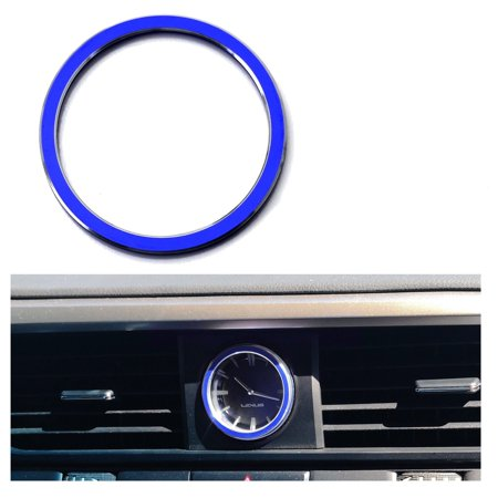 Xotic Tech 1 x 3D Aluminum Metal Dashboard Clock Decor Trim Ring for Lexus IS GS ES RX IS NX RX - Dashboard Clock