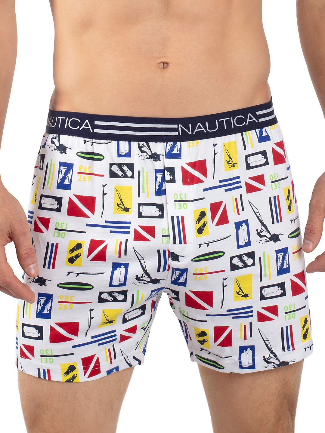 Nautica H70107 100% Cotton Loose Knit Solid Boxer