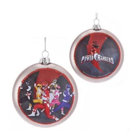 Power Rangers 100mm Glass Disc Ornament (Number of Pieces per case: 6) - Power Ranger Glasses