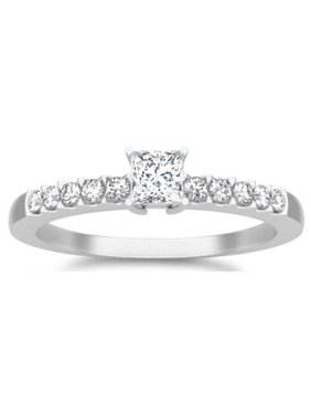 Classic Moissanite Bridal Set Engagement Ring 1.25 Carat on 10k White Gold