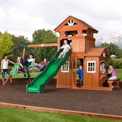 Backyard Discovery Shenandoah Cedar Wood Swing Set Box 1 Of 2