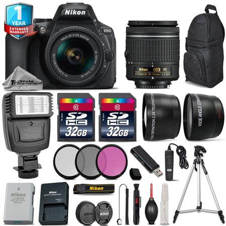 Nikon D5600 DSLR Camera + 18-55mm VR + Flash + Filters + Remote + 1yr Warranty