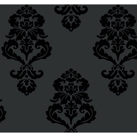 Black & White Graphic Damask - Black And White Halloween Wallpaper