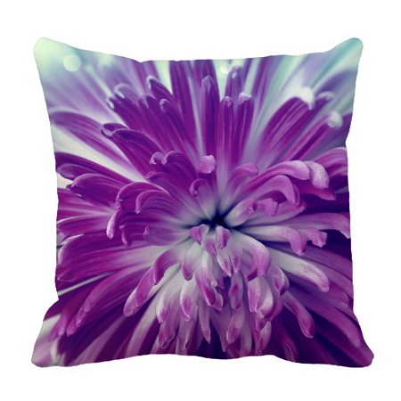 YKCG Big Blooming Flower Purple Violet Flower Pillowcase Pillow Cushion Case Cover Twin Sides 18x18 inches - Purple Pillow