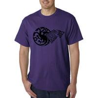 New Way 933 - Unisex T-Shirt Stark Targaryen Sigil House Game Of Thrones XL White