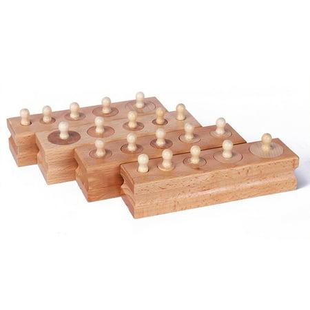 Montessori Materials Montessori Toys Educational Games Cylinder Socket Blocks - image 6 de 7