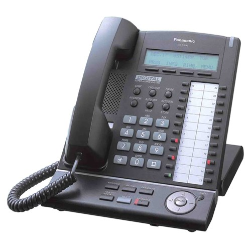 Refurbished Refurbished Panasonic KX-T7630B Digital Corded Phone w/ 3 Line Adjustable Display