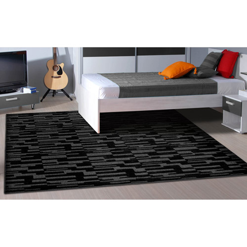 Garland Pixel Patterned Woven Olefin Area Rug