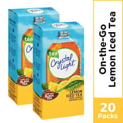 (20 Packets) Crystal Light Lemon Iced Tree Sugar Free, On-The-Go, Caffeinated Powdered Drink Mix