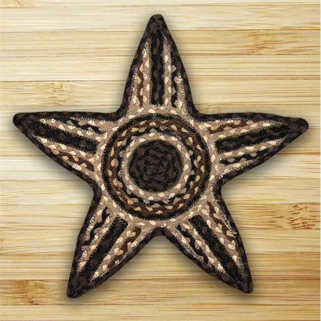 Earth Rugs 52-ST313 Mocha-Frappuccino Star Trivet