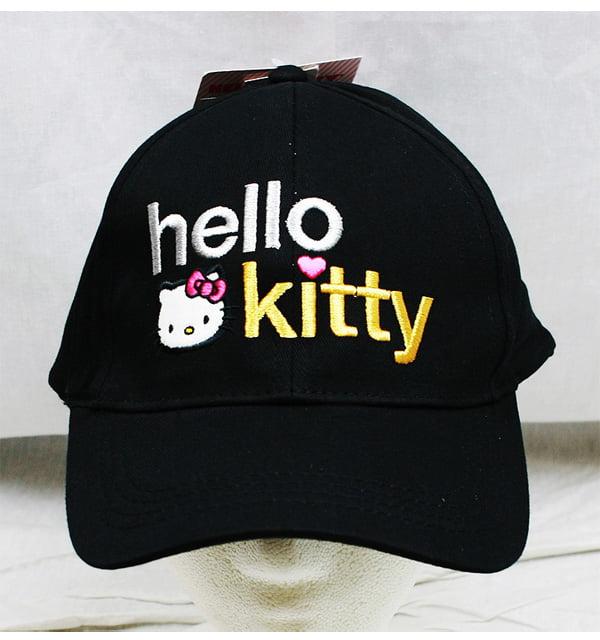 Baseball Cap Hello Kitty Black Text Logo (Youth Kids) New Hat hek2554 by Berhsire Fashion