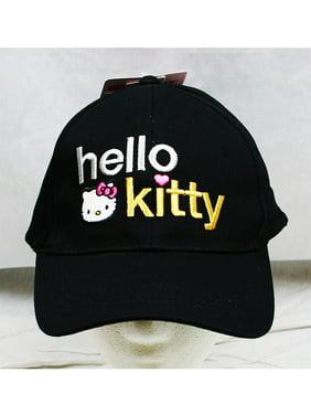 6c416f4c31cef Product Image Baseball Cap - Hello Kitty - Black Text Logo (Youth Kids) New  Hat