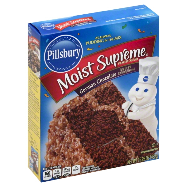 Pillsbury Moist Supreme German Chocolate Premium Cake Mix, 15.25 oz