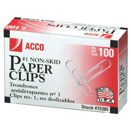 ACCO Economy Paper Clips, 1 Box- 100/Clips (A7072585)