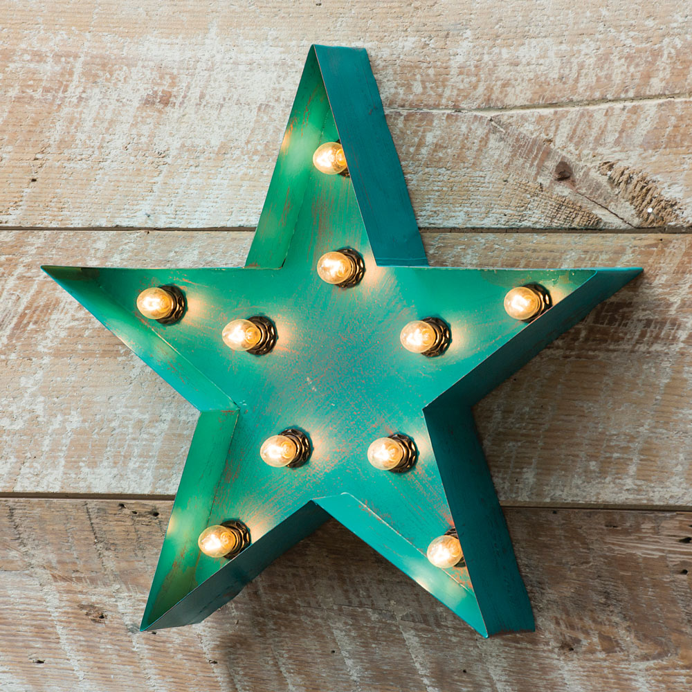 Star Lighted Metal Western Wall Hanging   Western Decor   Walmart.com