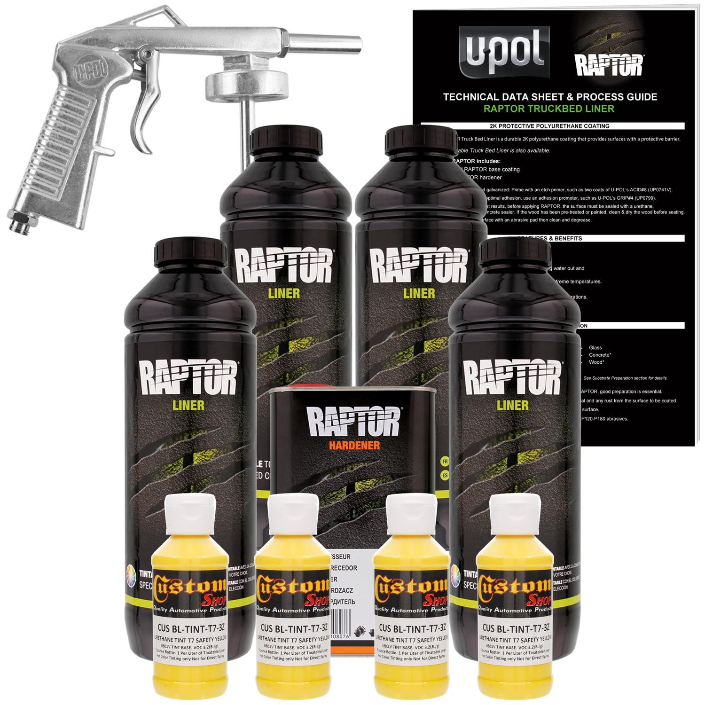 U POL Raptor Safety Yellow Urethane Spray-On Truck Bed Li...